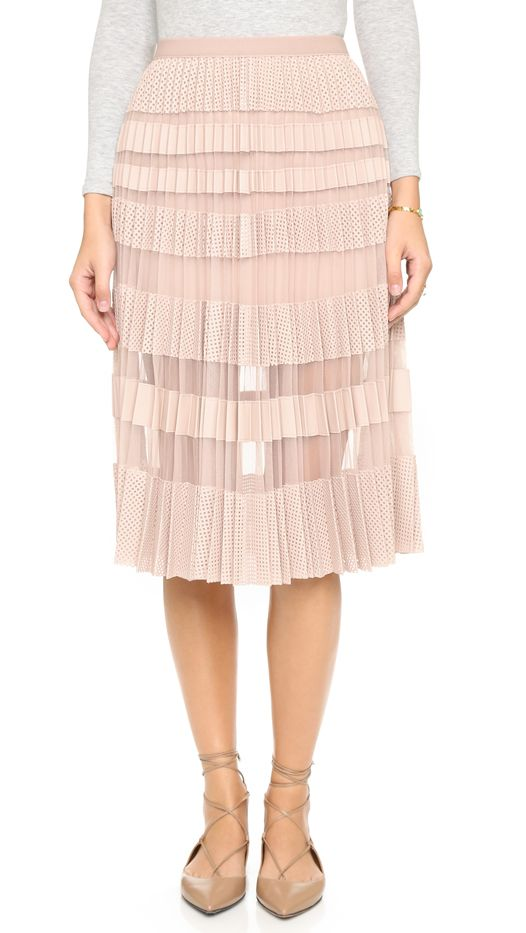 BCBG Max Azria Taura Pleated Skirt