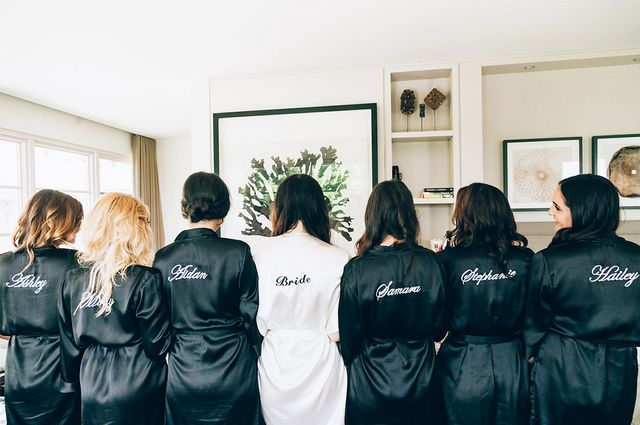 While her mom orchestrated the event, Seldon curated her wedding party gifts herself, and to perfection, we might add. She asked her best friends to be her bridesmaids in typical Raleigh...