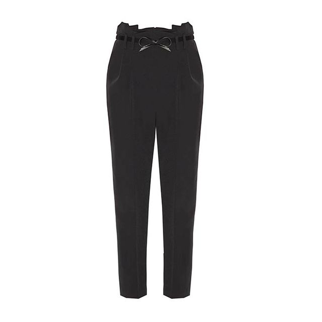 Milly Italian Cady Stretch Paperbag Trouser