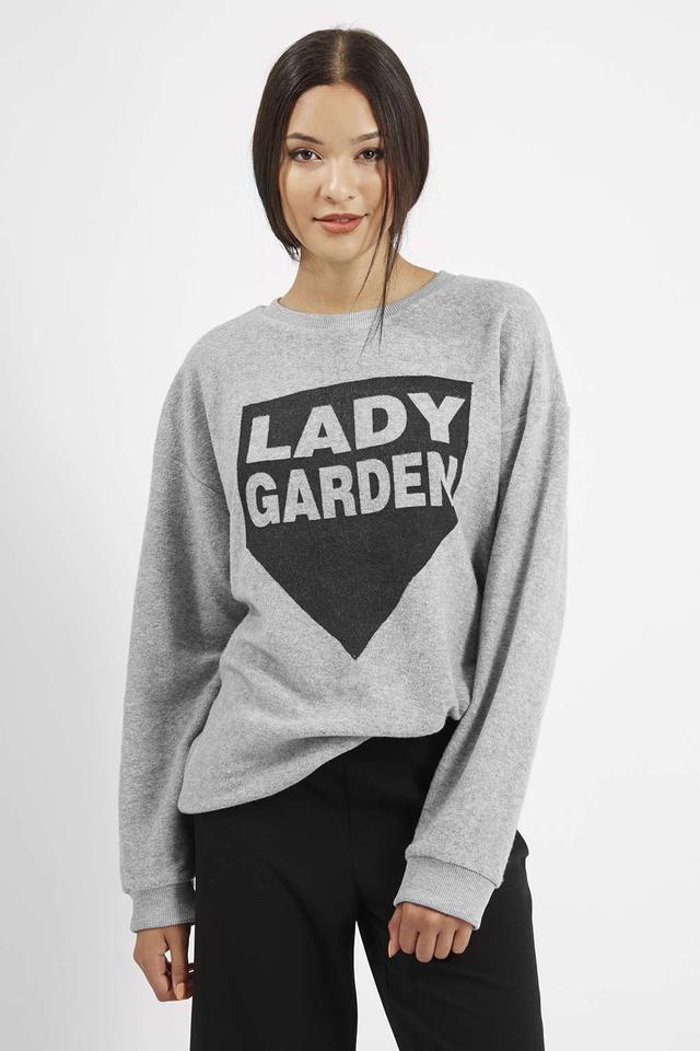 Topshop Lady Garden Sweatshirt