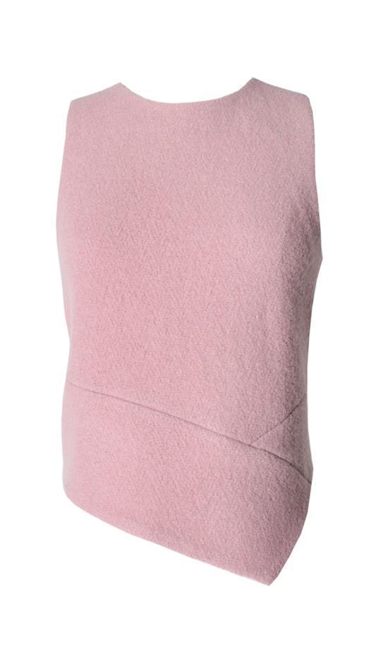Tibi Plush Wool Asymmetrical Top