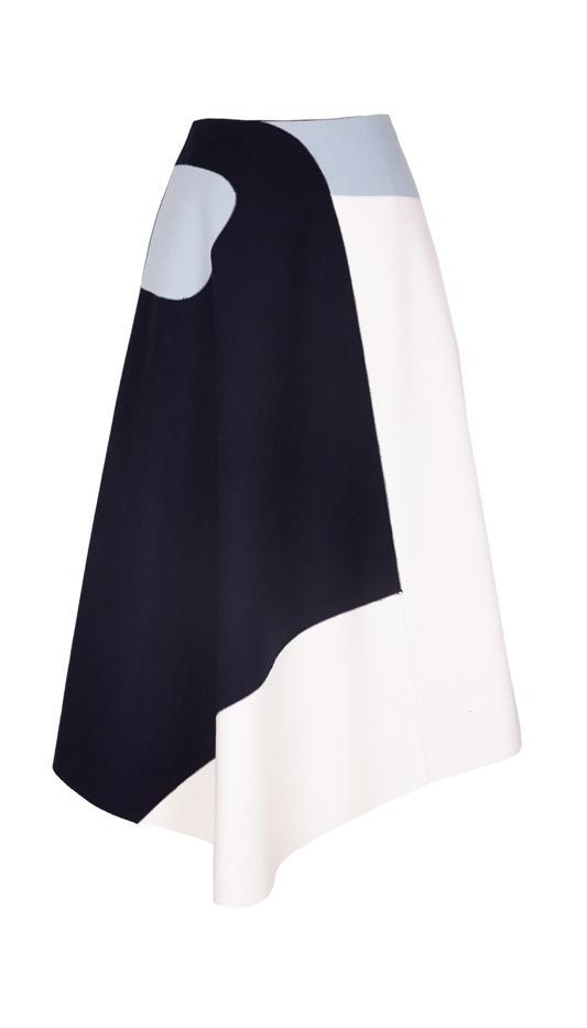 Tibi Siku Applique Draped Skirt