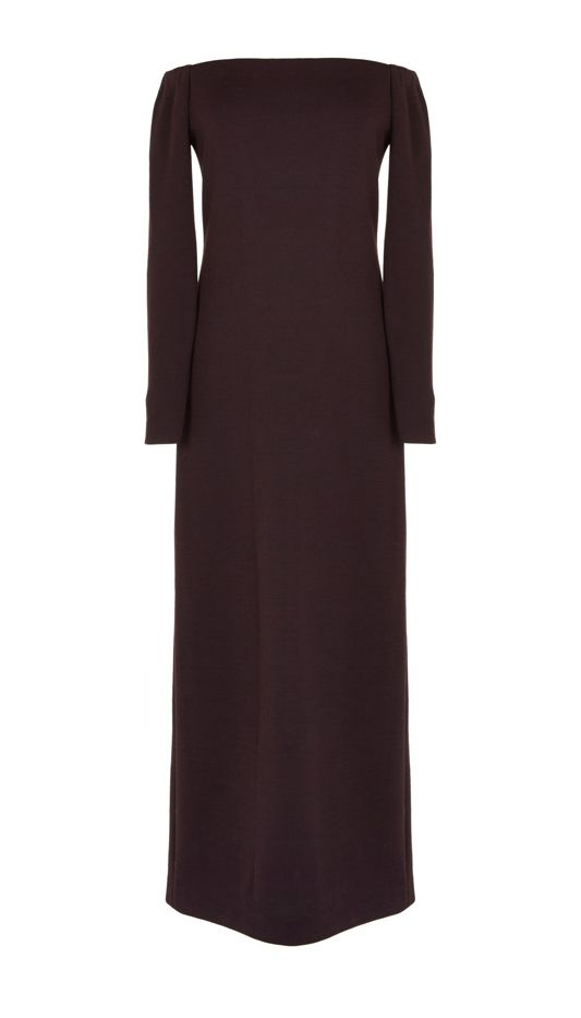 Tibi Viscose Crepe Off-the-Shoulder Long Dress