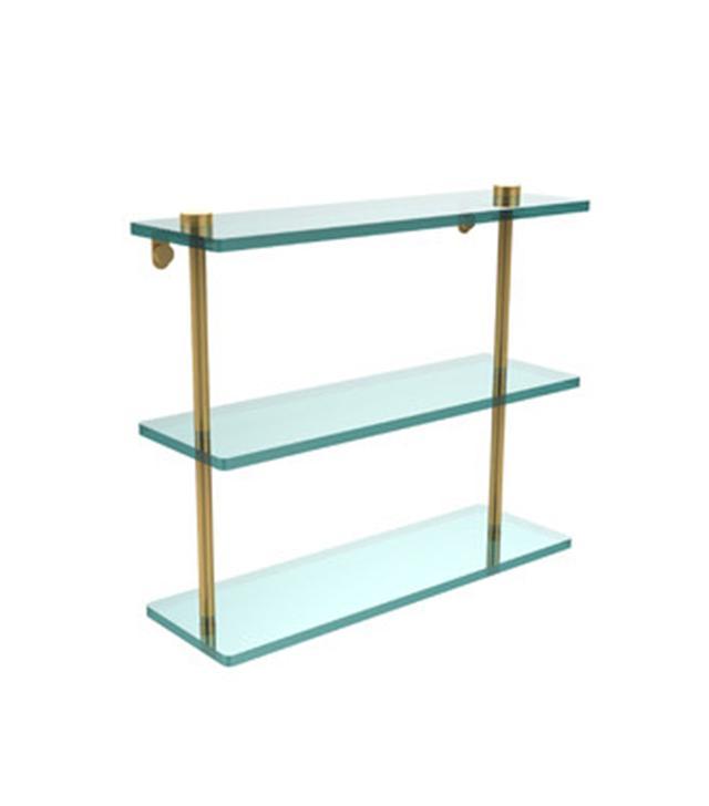 Allied Brass Universal Triple Glass Shelf