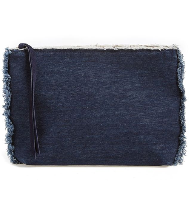 Cartel The Pouch Frayed Denim Zip Pouch
