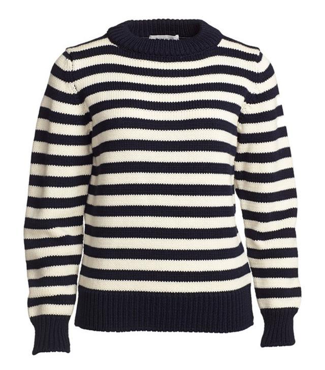 &Daughter Breton Guernsey Stripe Wool Sweater