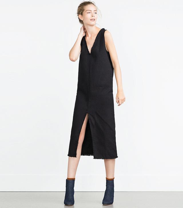Zara Frayed Dress