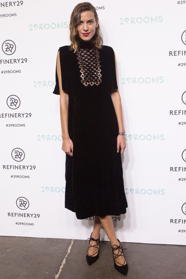 WHO: Alexa Chung  WHAT: Refinery29's 29Roomsopening night