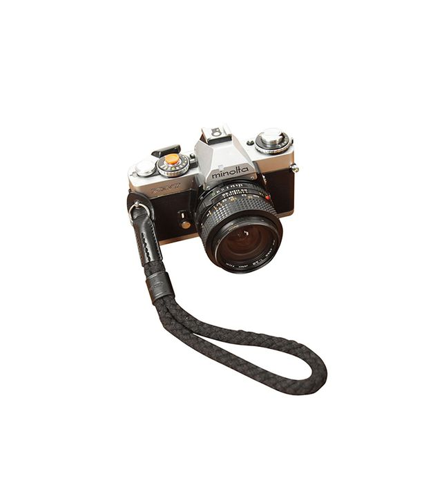 Black OneKnot Cotton/Leather Camera Wrist Strap