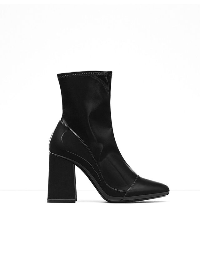 Zara High Heel Sock Styled Ankle Boots
