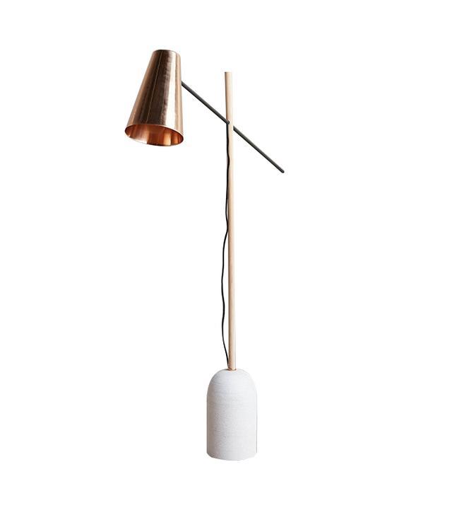 Anthropologie Slanted Copper Floor Lamp