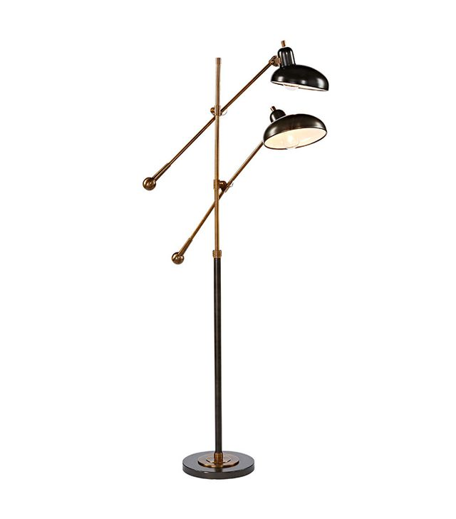 Rejuvenation Bruno Double-Arm Floor Lamp