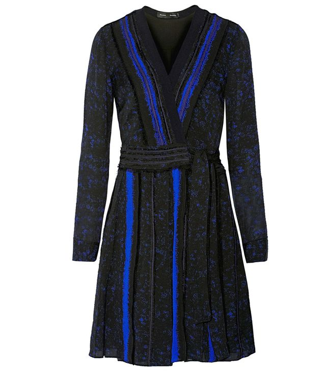 Proenza Schouler Printed Silk-Georgette Wrap Dress