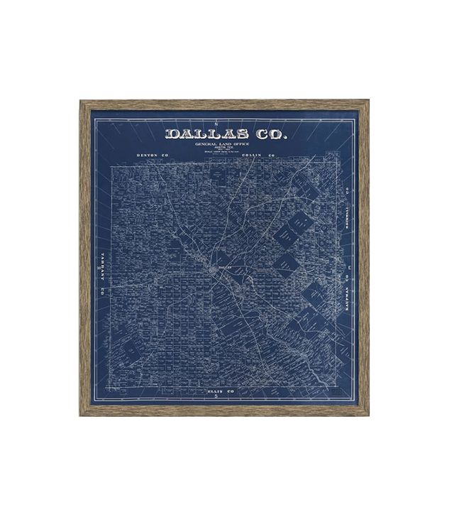 West Elm 1884 Map Of Dallas County