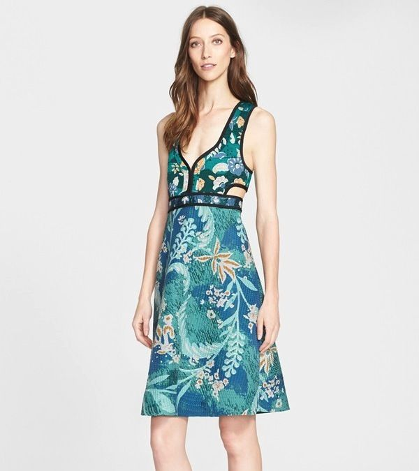 Burberry Prorsum Farmed Bodice Shift Dress