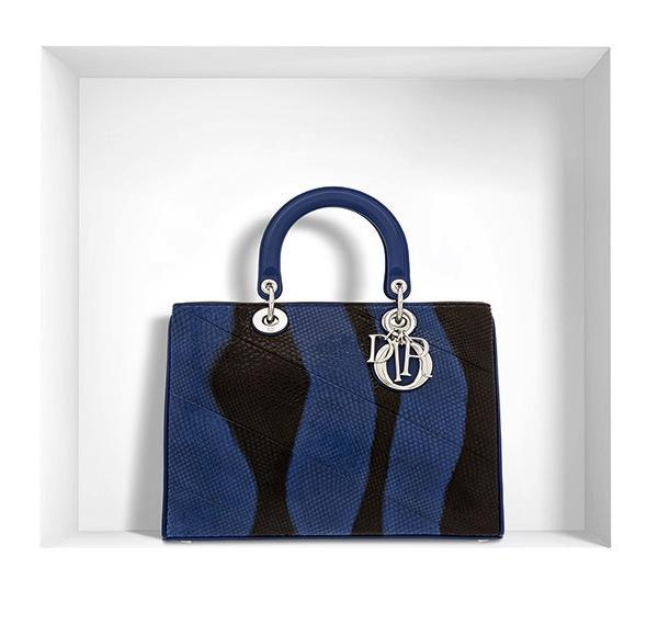 Dior Diorissimo Bag in Bleu de Minuit Ayers