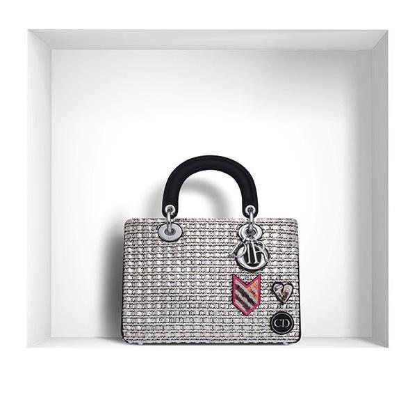 Dior Mini Diorissimo Bag in Metallic Tweed