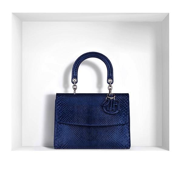 Dior Small Be Dior Bag in Bleu de Minuit Python