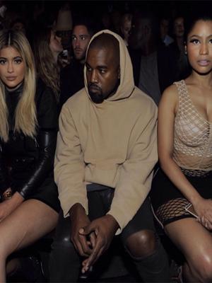 Kanye, Kylie, and Nicki Sit Front Row at Alexander Wang