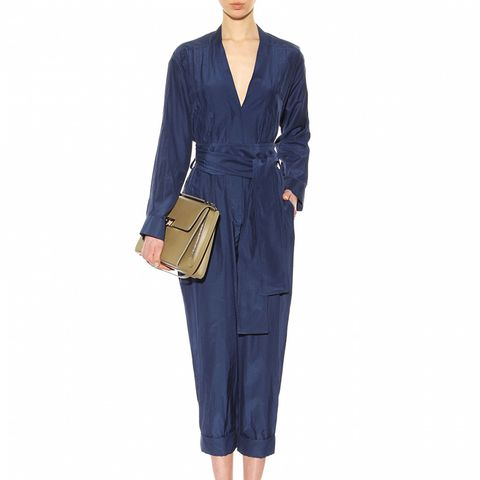 Silk and Cotton-Blend Jumpsuit