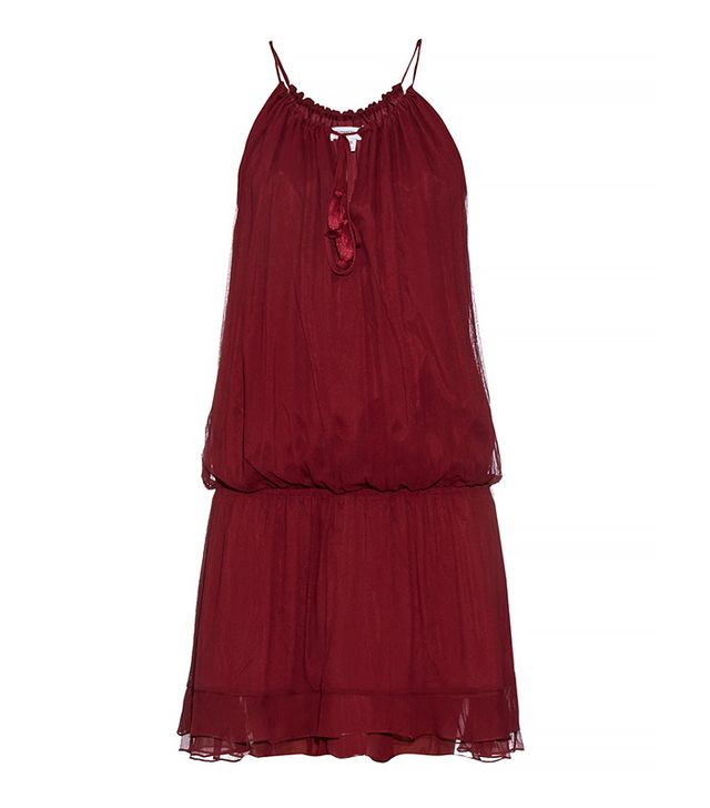 Elizabeth and James Kenji Crinkled Silk Chiffon Dress