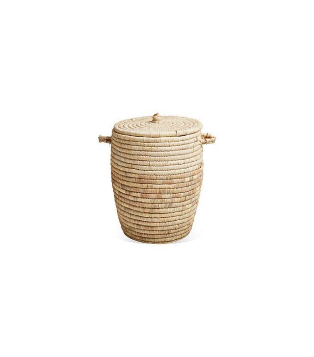 Treillage Egyptian Palm Frond Lidded Basket