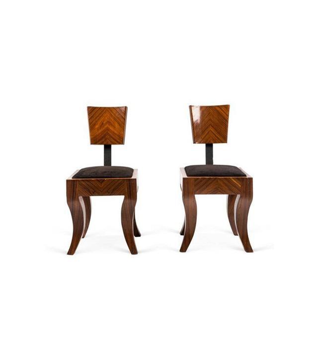 Treillage Art Deco Side Chairs