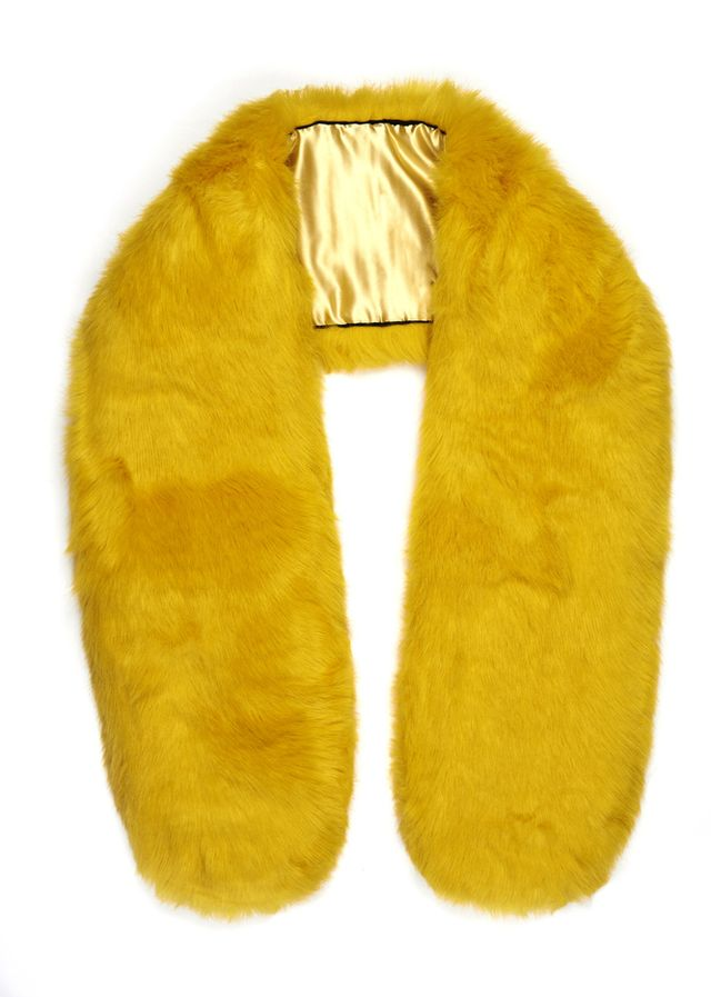 The Haute Pursuit Tweety Canary Yellow Chubby Stole