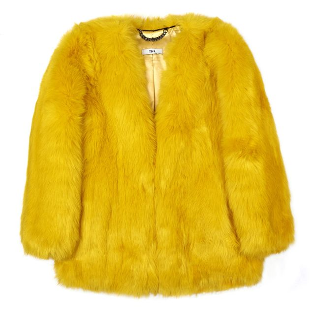 The Haute Pursuit Tweety Canary Yellow Boxy Coat