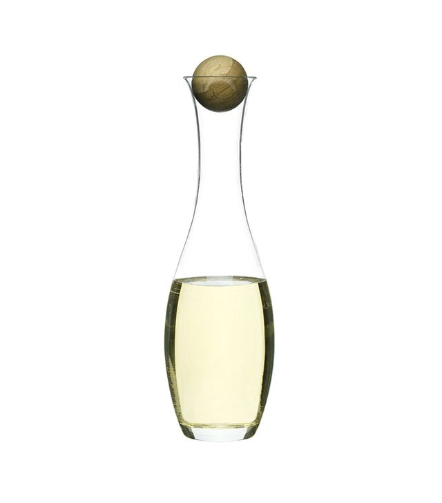Sagaform Wine Water Carafe With Oak Stopper
