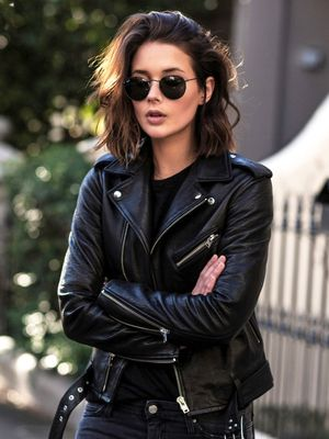 Steal This Australian Blogger's Edgy Leather Jacket Look for Fall