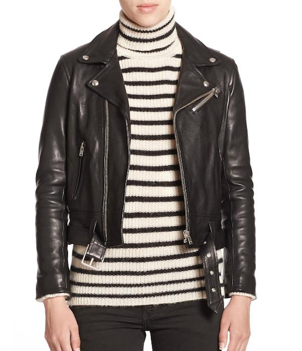 IRO Gant Leather Moto Jacket