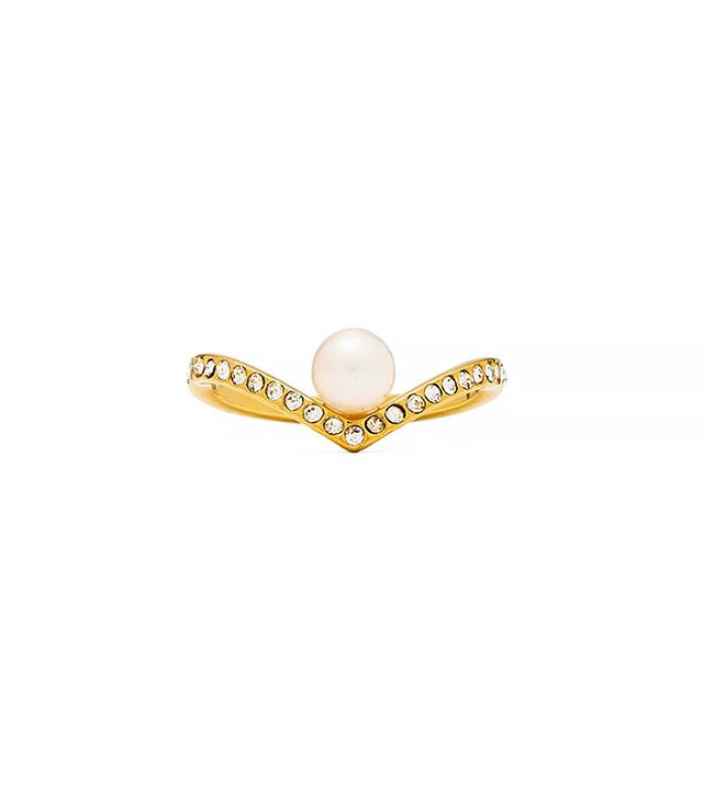 Vita Fede V Crystal and Pearl Ring