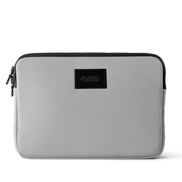 Killspencer Stone Grey Canvas Laptop Sleeve