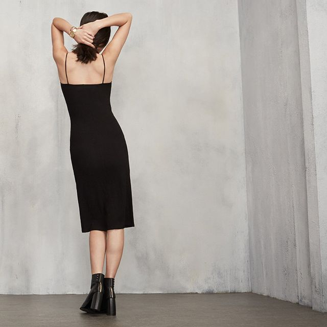 Reformation Now Sells the Perfect Black Slip Dress