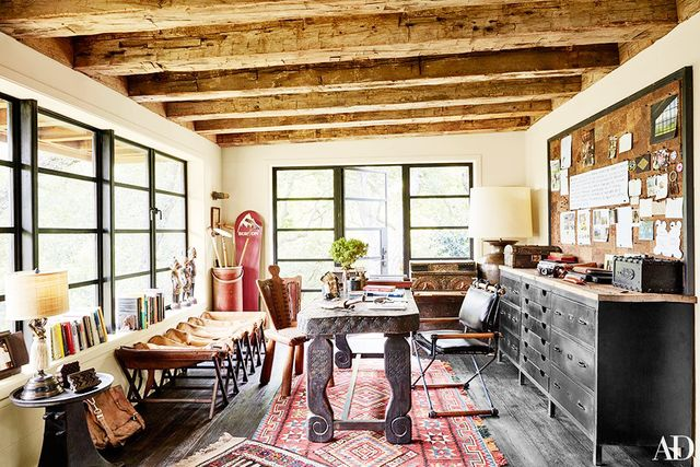 For the full tour, visit Architectural Digest.  What do you think of the social entrepreneur's Topanga home? Share your thoughts in the comments!