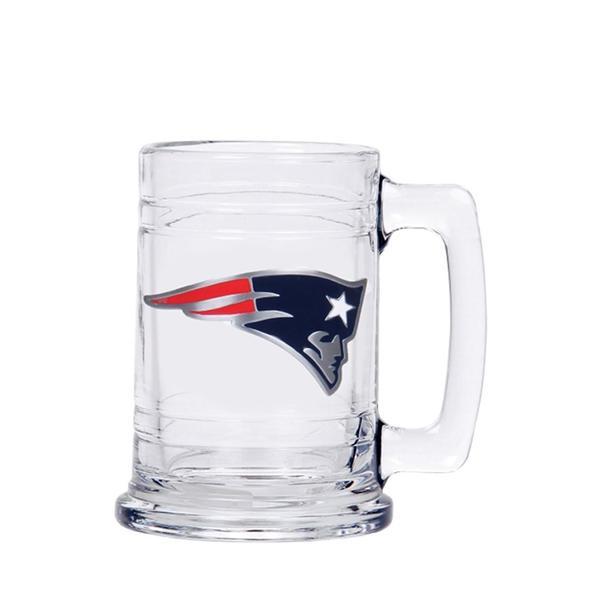 New England Patriots 15 Oz. Glass Tankard