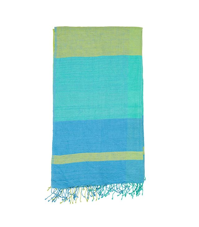 The Little Market Square Madras Tablecloth in Blue/Green
