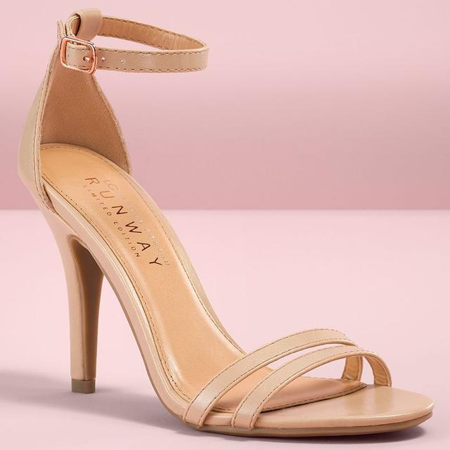 LC Lauren Conrad Runway Ankle Strap High Heels