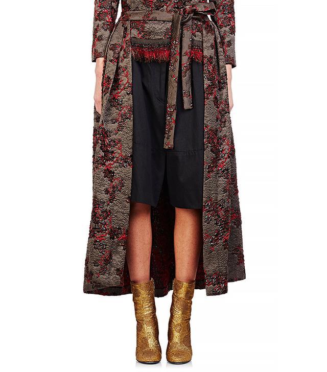 Dries Van Noten Saint Short Convertible Cape Skirt