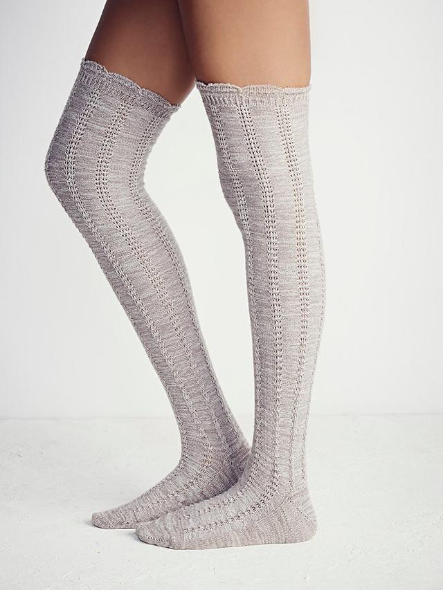 Free People Fray II Pointelle Over-the-Knee Socks