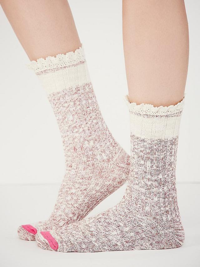 Free People Hiker Heathered Highland Socks