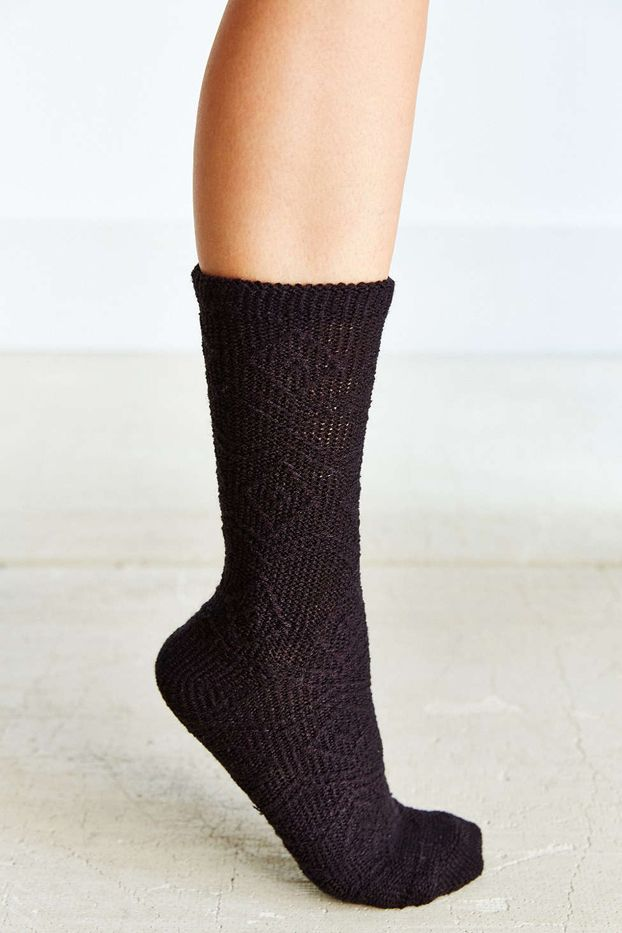 Urban Outfitters Diamond and Chevron Boot Socks
