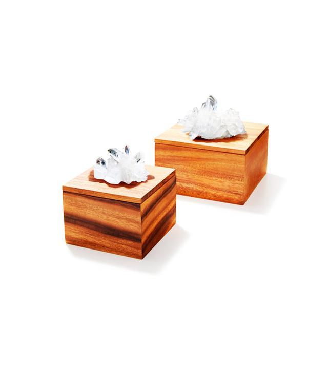 RabLabs Bosque Acacia Wood & Quartz Box