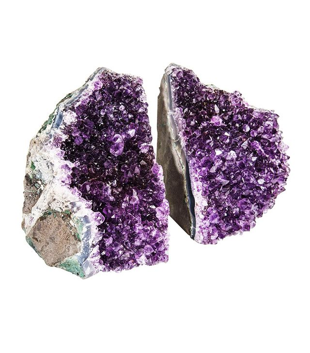 Vintage Large-Scale Natural Amethyst Bookends