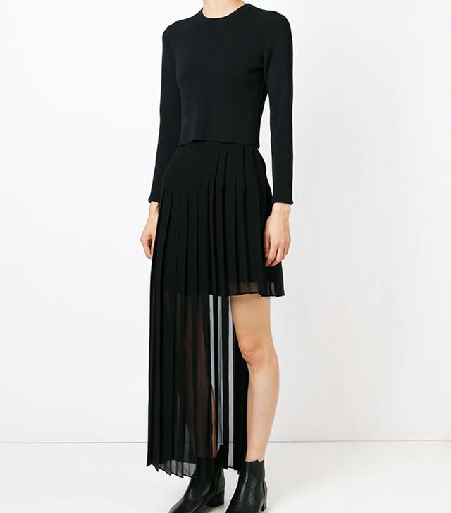 McQ Alexander McQueen Asymmetric Pleated Skirt