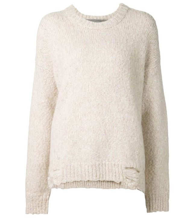 Raquel Allegra Distressed Oversized Sweater