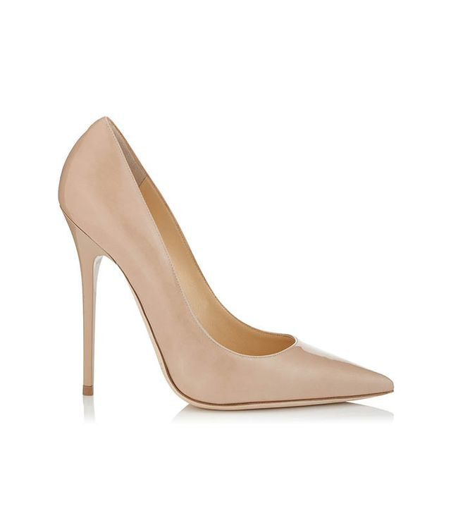 Jimmy Choo Anouk Patent Pointy Toe Stiletto Pumps