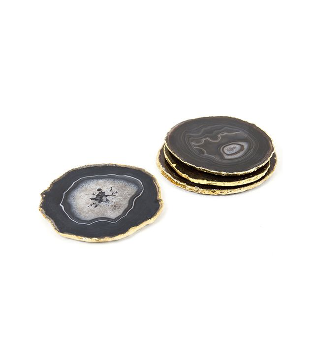 Jonathan Adler Brown and Gold Agate Coaster