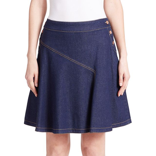 See by Chloé Flared Denim Skirt